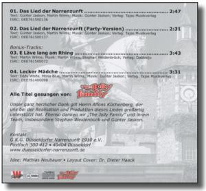 Foto - Das Lied der Narrenzunft - Cover-2